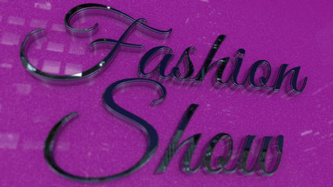 Fashion Show Title in Metallic Chrome Style Footage