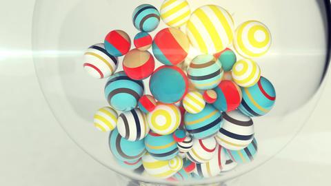 Multicolored balls Inside a Light Bulb Animation