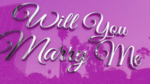 Will you Marry Me Title Footage