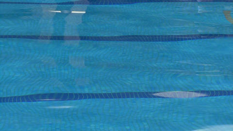 Swimming Pool water ripples close up Footage