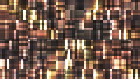 Broadcast Twinkling Squared Hi-Tech Blocks, Brown, Abstract, Loopable, 4K Animation