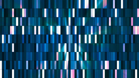 Broadcast Twinkling Hi-Tech Small Bars, Blue, Abstract, Loopable, 4K Animation