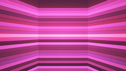 Broadcast Twinkling Horizontal Hi-Tech Bars Shaft, Pink, Abstract, Loopable, 4K Animation