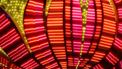 Neon flashing lights of Las Vegas Casino ビデオ