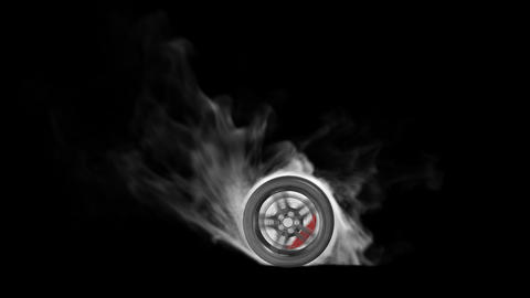 Burnout car wheel with alpha channel Animation