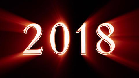 New Year 2018. Christmas. Bronze figures, midnight. Fairy clock. New Year Animation