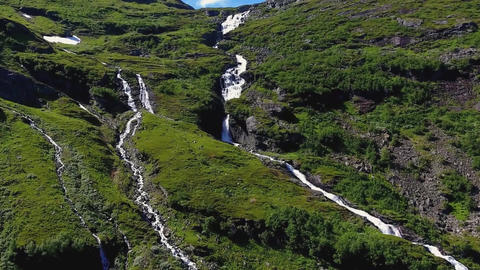 Waterfall. Geiranger fjord norway 画像