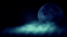 Abstract moon behind clouds HD stock footage Animation