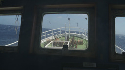 Fishing vessel navigation view from control cabin Footage