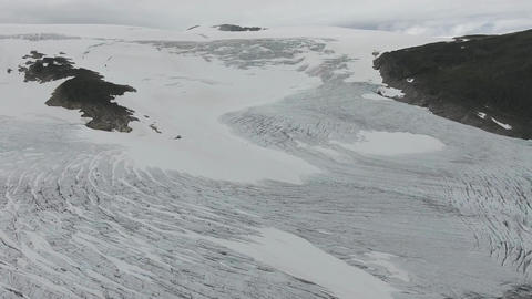 Aerial view of the valley in the glacier Footage