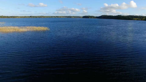 Flight over the surface of the lake Footage