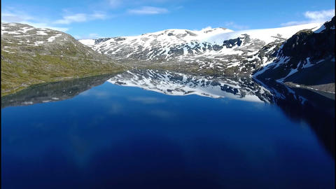 Lake Djupvatnet and mountains Footage