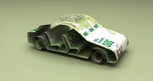 Car Finance with Argentinian Pesos Animation