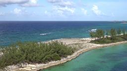 Bahamas Nassau Paradise Island & jet ski in turquoise water Footage