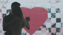 Romance: A guy and a girl are dancing tango Footage