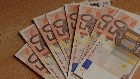 pile of paper euro banknotes Footage