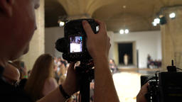 The photographer works on fashion show Footage