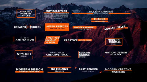 20 Modern Titles After Effects Template