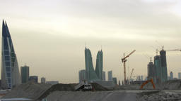 Construction Site in Middle East. Manama City. Bahrain 01 - Time lapse - Camera Footage