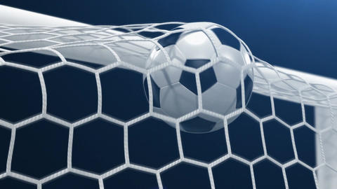 Goal!!! Soccer Ball Flies into the Goal Animation