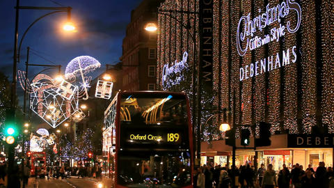 Chistmas Oxford Street London Footage
