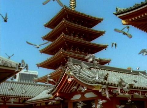 1998 - Sensō-ji (金龍山浅草寺 Kinryū-zan Sensō-ji) is an ancient Buddhist temple Footage
