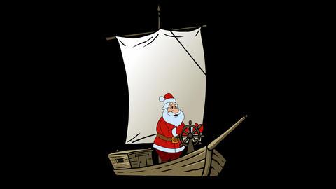 Santa and boat Animation