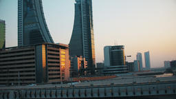 Bahrain Financial Harbour Tilt Up Footage