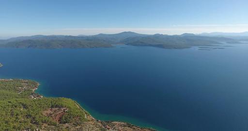 Gokova Gulf Akyaka Turkey Aerial Footage Footage