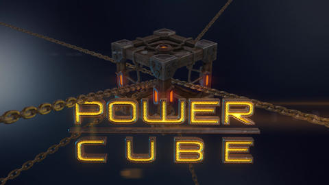 Power Cubes: Chained Cube – Medieval Wooden Cube With Chains After Effects Template