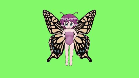 蝶の羽根の妖精GB 2 CG動画