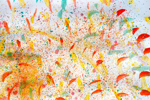orange and red watercolor background フォト