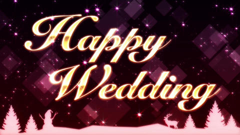 Happy Wedding Bild