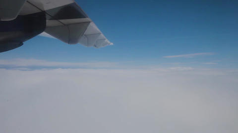 Turbulence the wing of the plane Footage