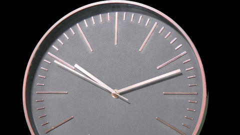 Modern Clock Face Fast Time Lapse Live Action