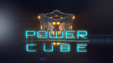 Power Cubes: Air Cube – Hi-tech Gaseous Elemental Cube Logo Plantilla de After Effects