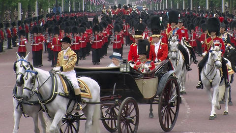 Trooping The Colour Footage