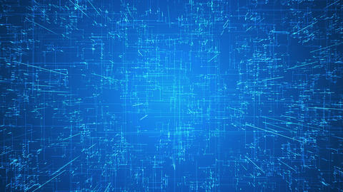 Emerging connections, conductors and neural signals over blue background. Animation
