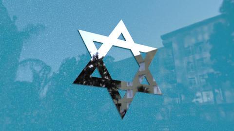 Star of David Symbol Footage