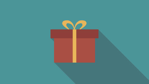 Present flat design animation icon Animation