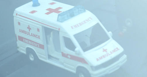 Ambulance at Hospital Exterior Footage