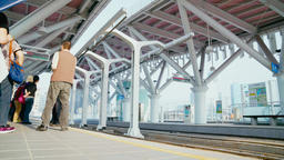The light rail system in Kaohsiung is the first light... Stock Video Footage