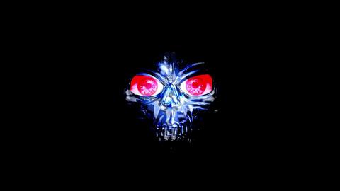 Skull Mask 4K Blue Mix Animation