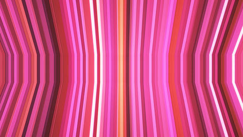 Broadcast Twinkling Vertical Bent Hi-Tech Strips, Pink, Abstract, Loopable, 4K Animation