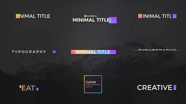 Color Full Minimal Titles - ( After Effects Template ) Plantilla de After Effects