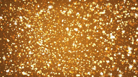 Golden Shining Glitter Sparkles Abstract Particles Motion Background Animation