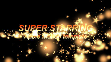 Super Starring Intro - Apple Motion Apple Motionテンプレート