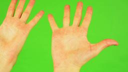 man hands - green screen Footage