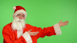 santa claus - green screen - studio - Santa Claus introduce Footage