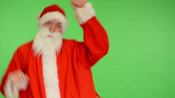 santa claus - green screen - studio - santa claus dancing Footage